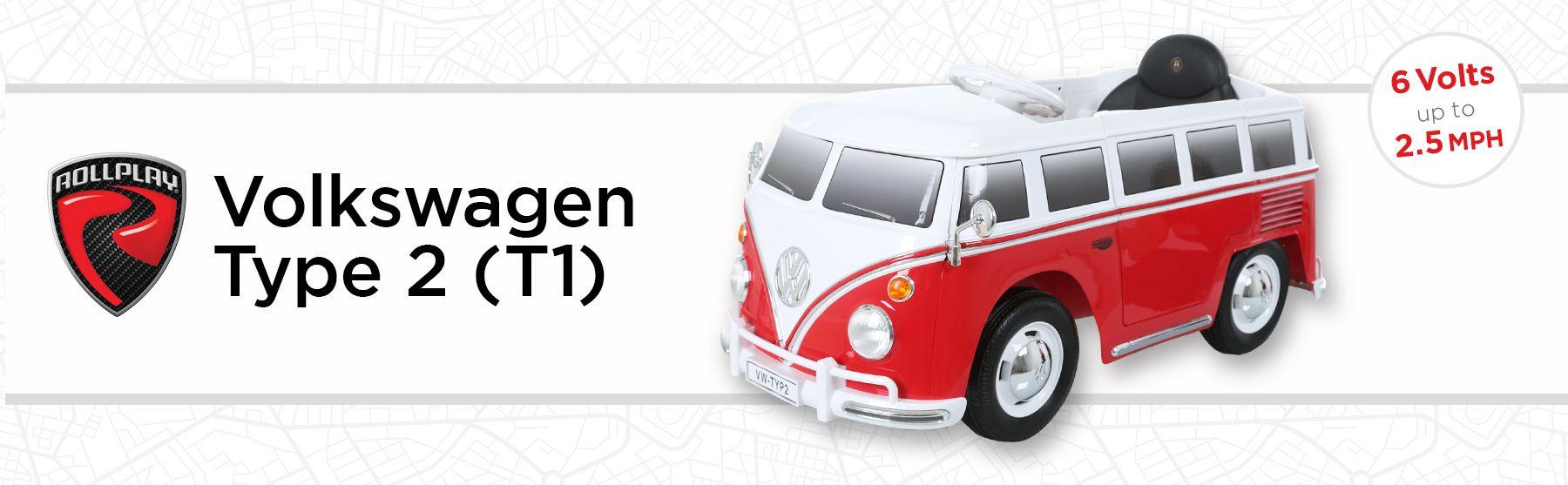 Rollplay VW Bus 6 Volt Battery Ride-On Vehicle - Walmart com