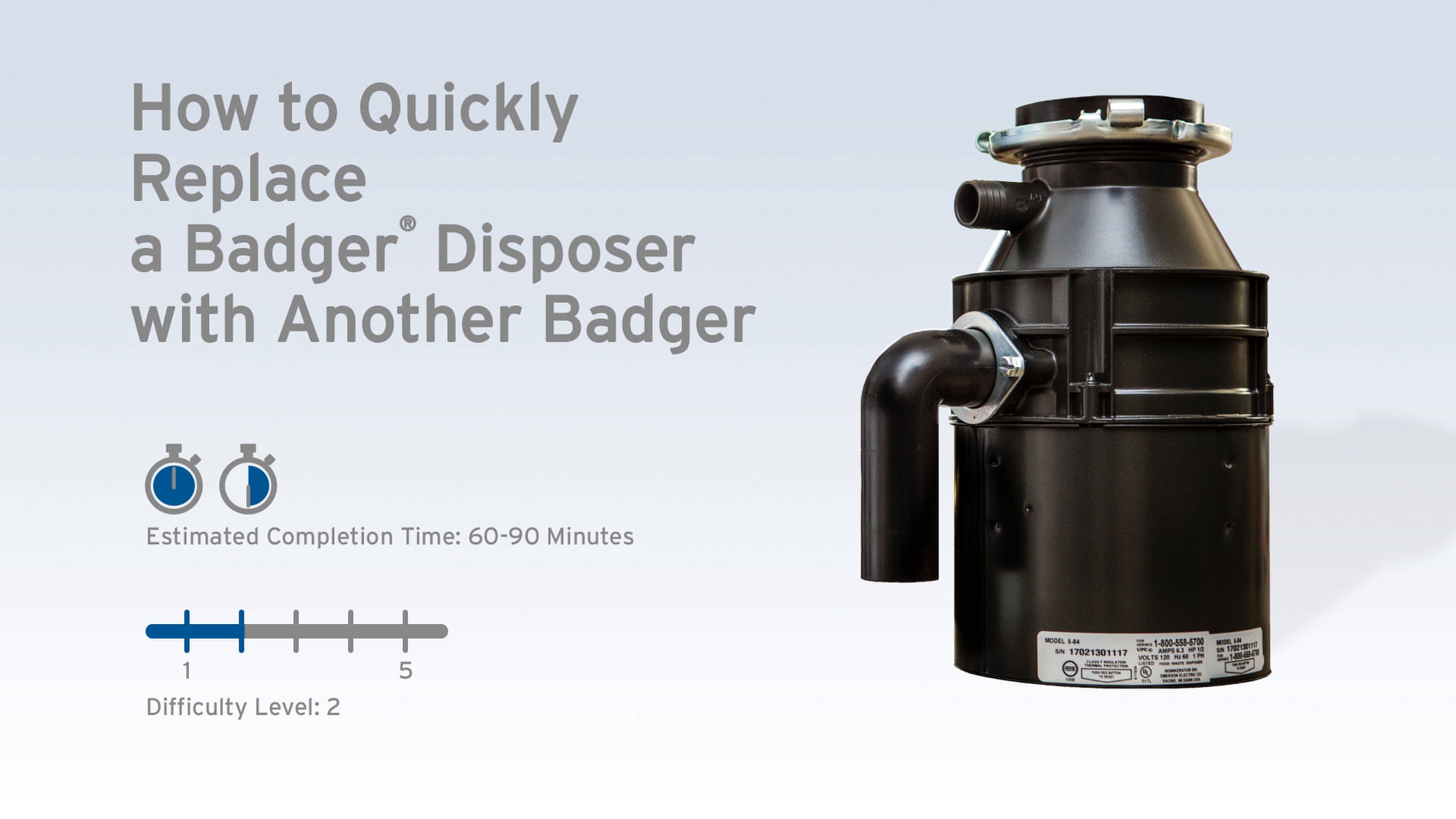 InSinkErator Badger 5 Series 1/2-HP Continuous Feed Garbage