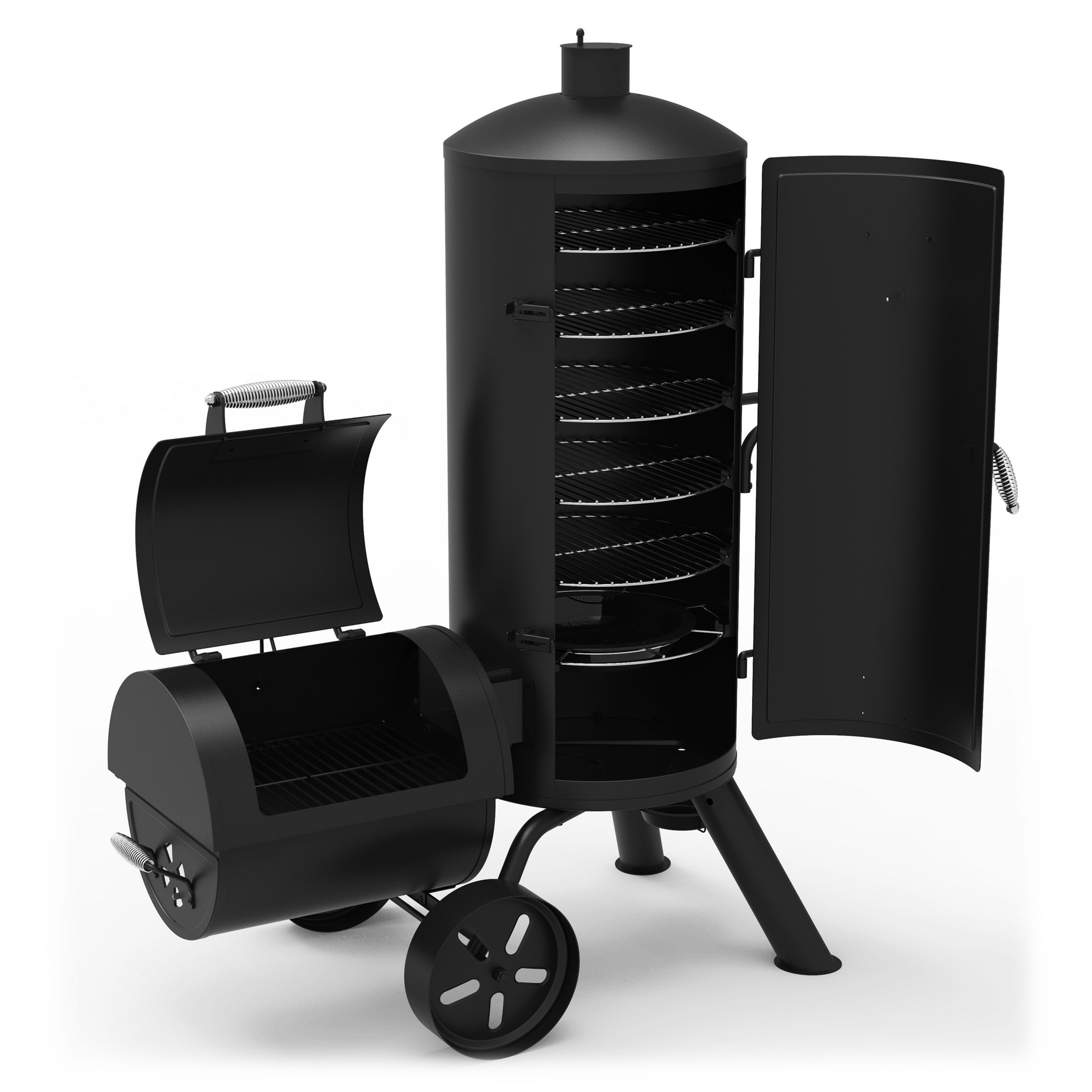 62cc8afc2b78 Dyna-Glo Signature Series Heavy-duty Vertical Offset Charcoal Smoker and  BBQ Grill with Cover