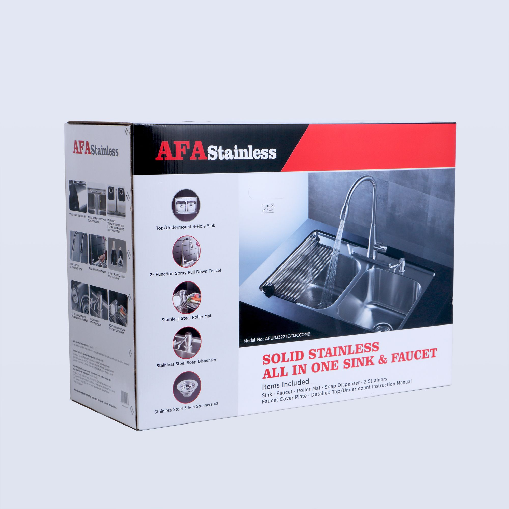 AFA Stainless Double Bowl 33