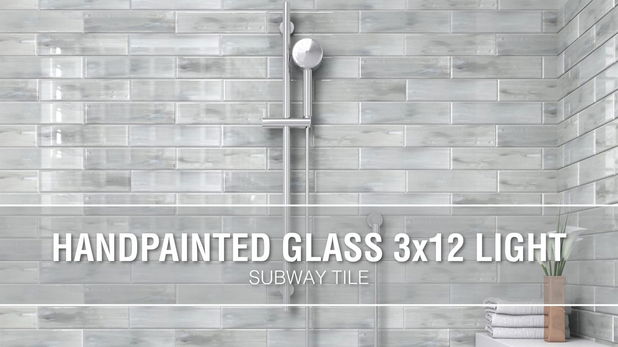 - Elida Ceramica White 3-in X 12-in Glossy Glass Subway Wall Tile In
