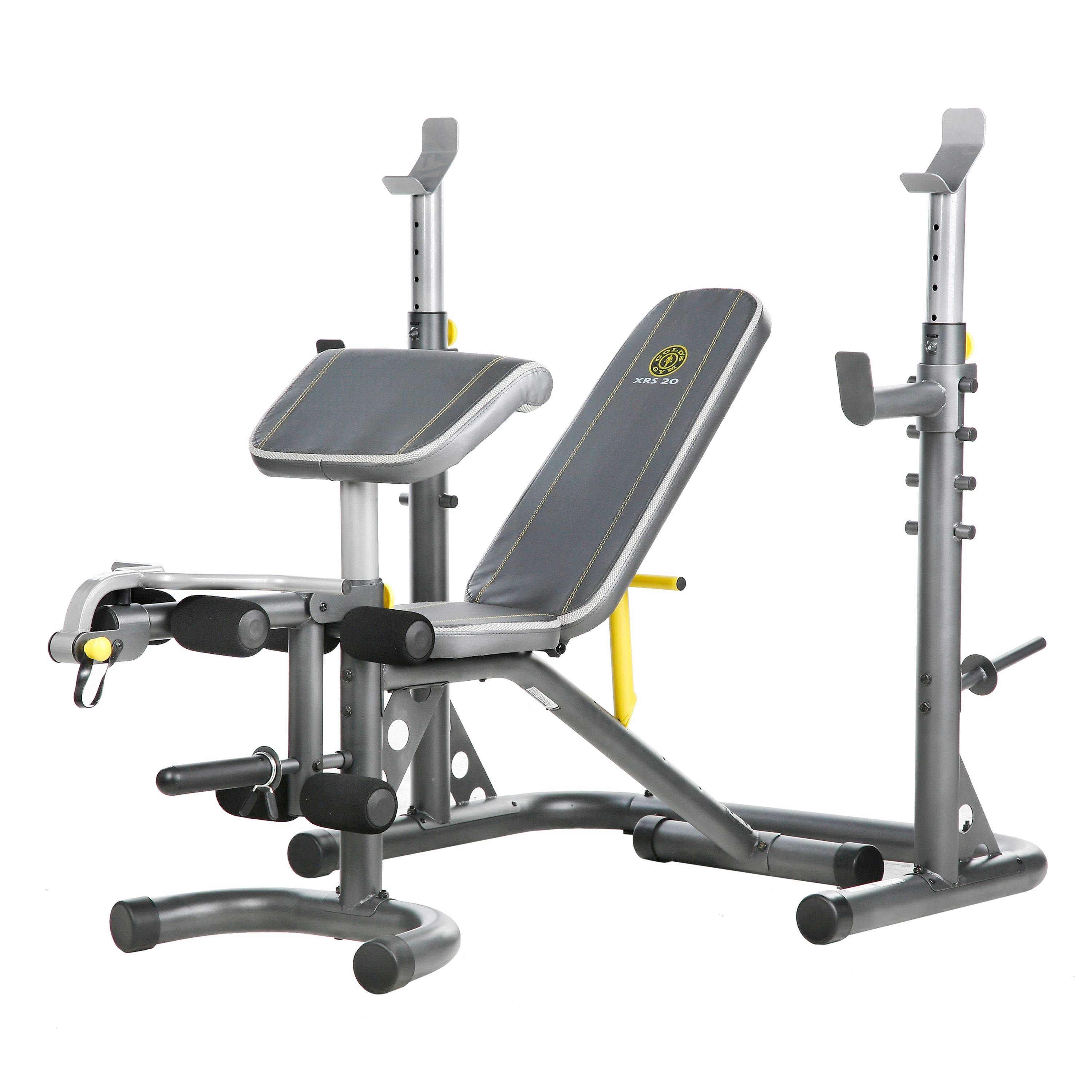 Gold S Gym Xrs 20 Olympic Workout Bench With Squat Rack Walmart Com
