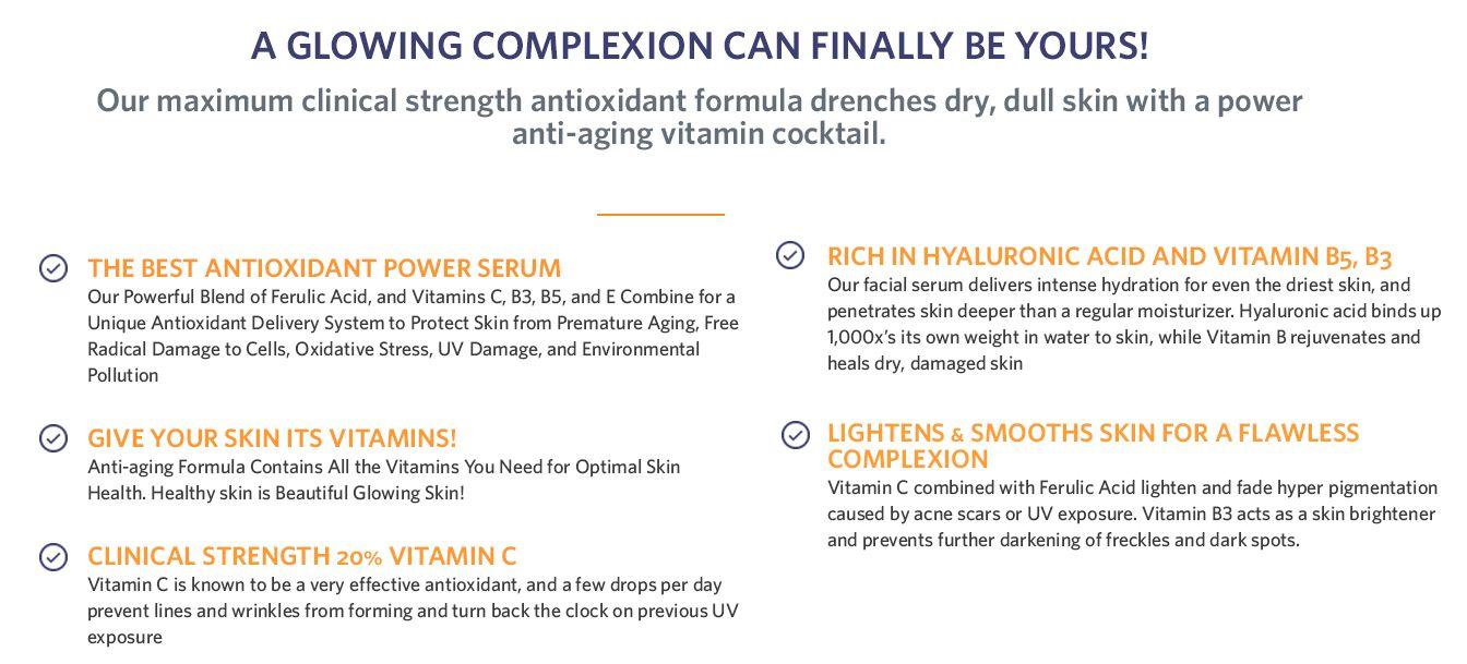 Refresh Skin Therapy Vitamin C Serum, 1 0 fl oz