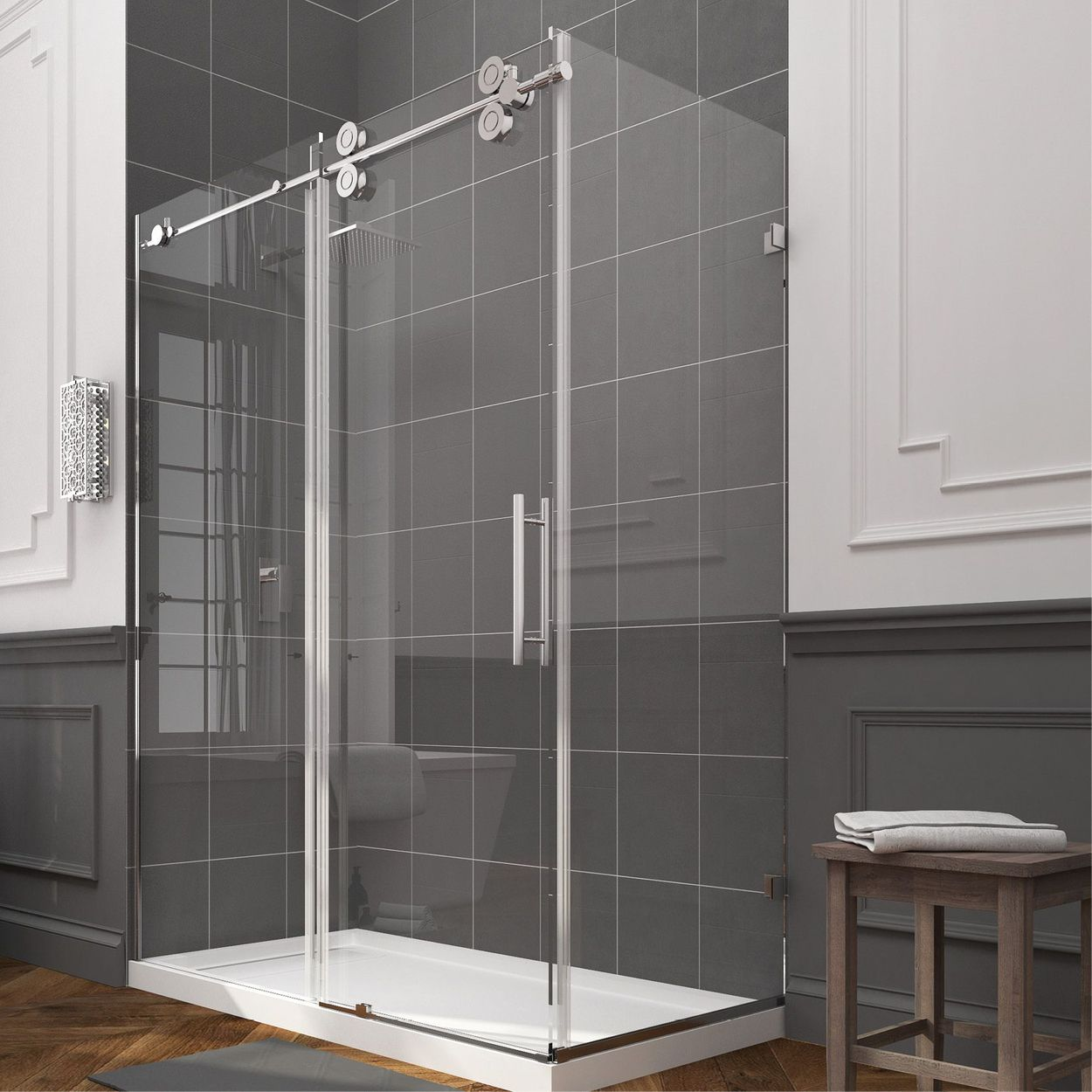 Ove Decors Sydney 78 75 In H X 30 25 In W Clear Shower Glass