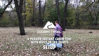 8407e4460e7 Ozark Trail 6-Person Instant Cabin Tent with LED Light - Walmart.com