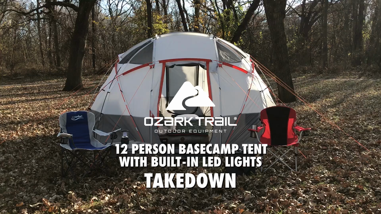 Ozark Trail 12-Person Base Camp Tent with Light - Walmart.com e5ee52b4a8
