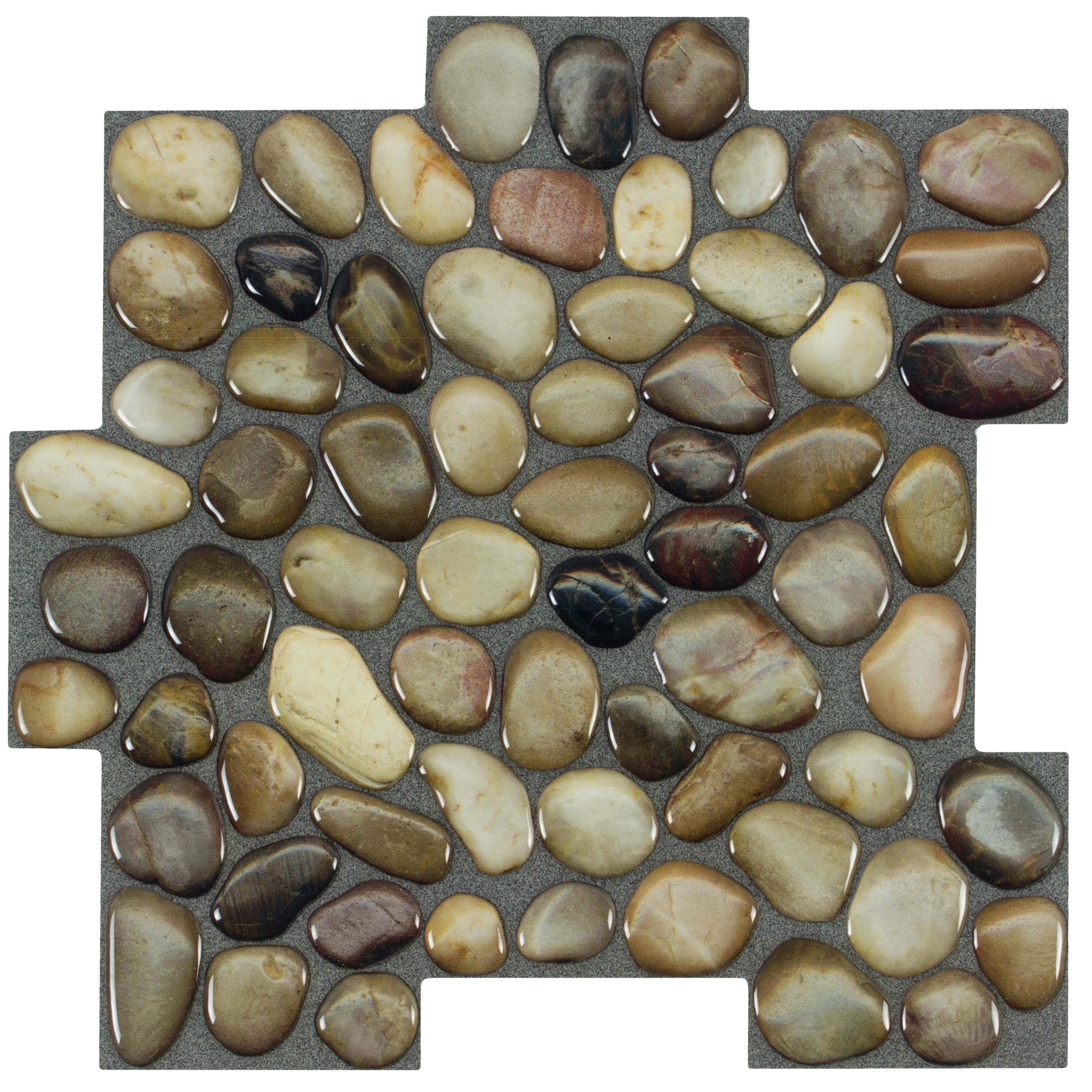 - Peel&Stick Mosaics Peel And Stick Rocky Road 10-in X 10-in Glossy