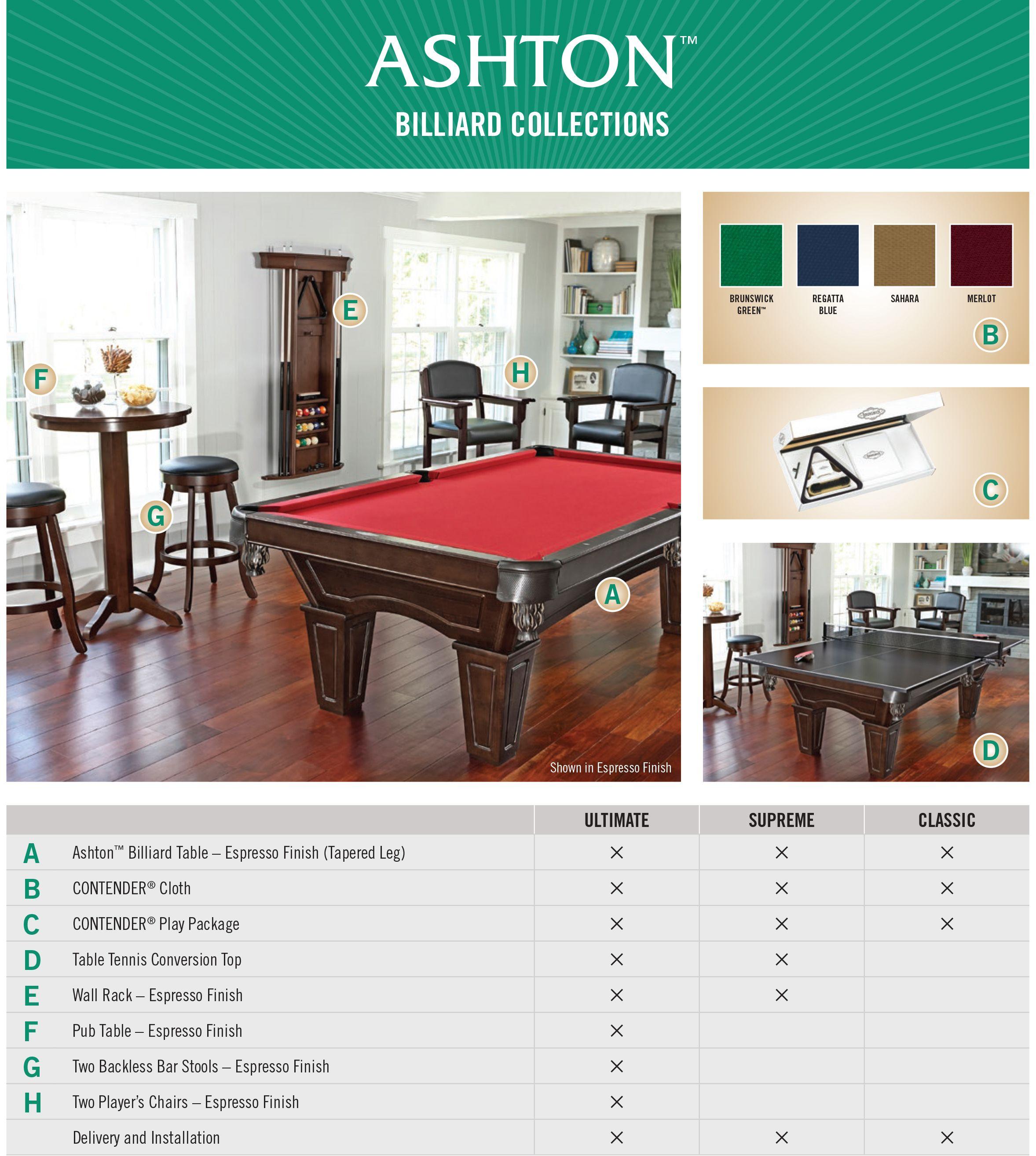 Brunswick Ashton Billiard Collection