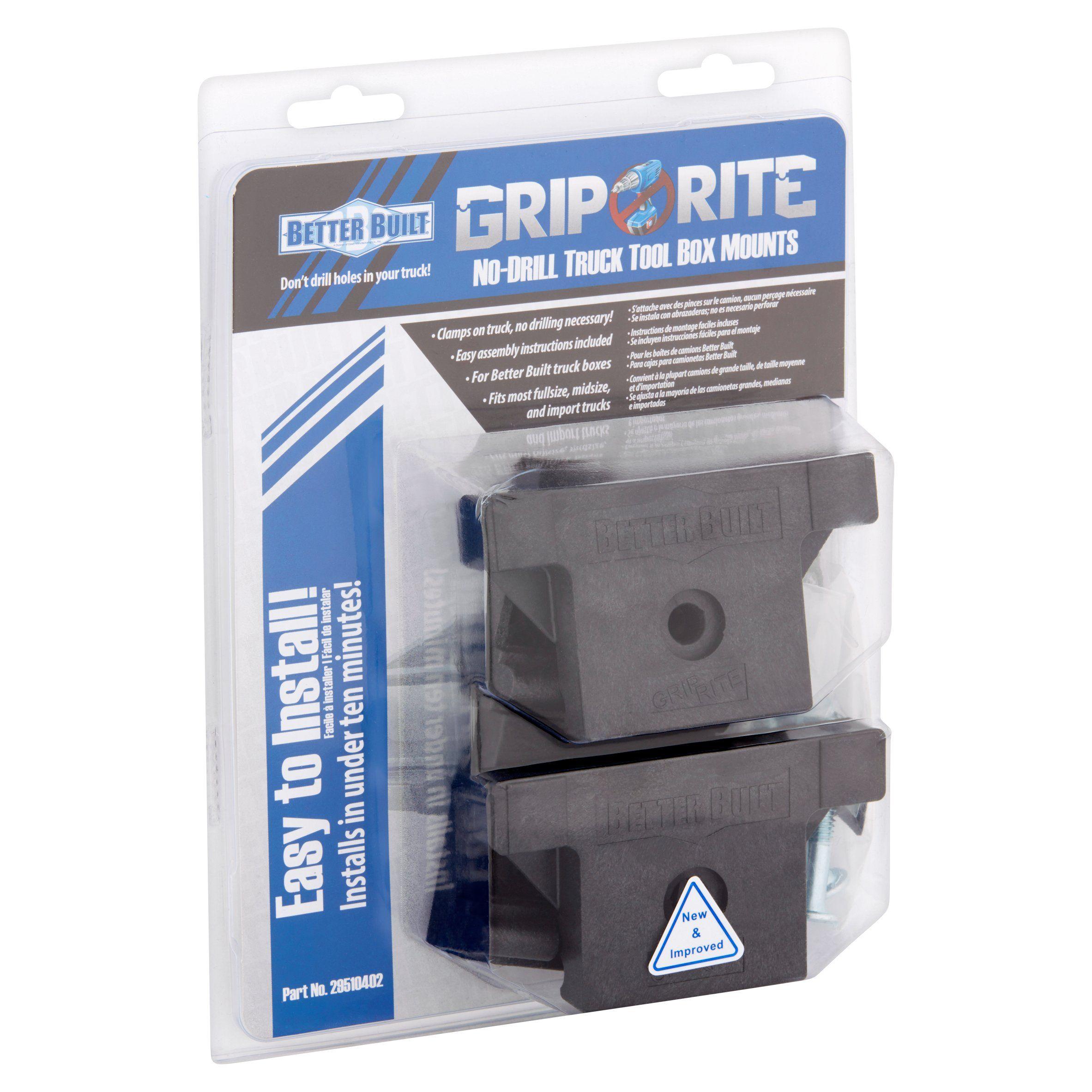 b70ce21c1 Better Built Grip Rite No-Drill Truck Tool Box Mounts - Walmart.com