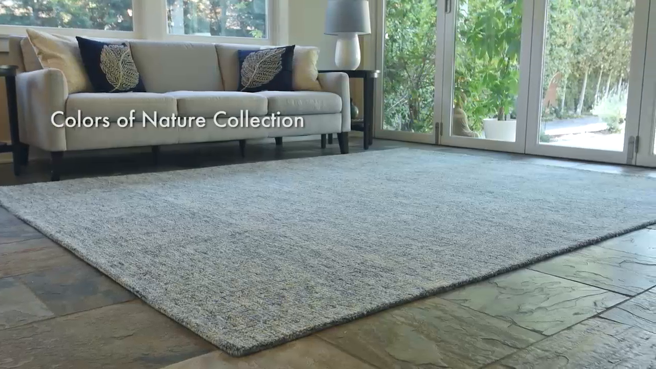 Colors of Nature Wool Area Rugs - Taupe
