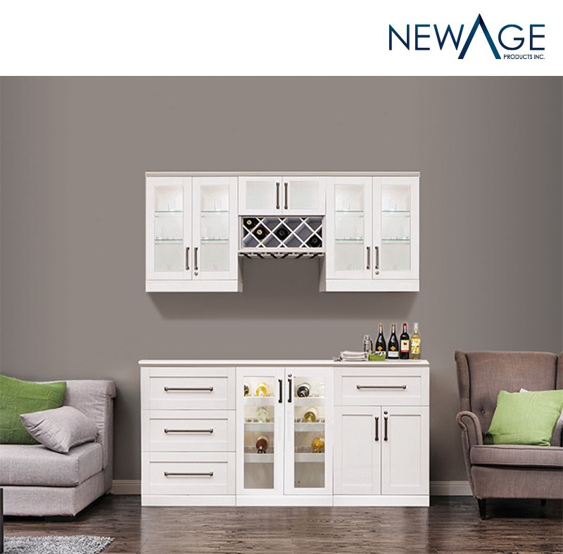 Home Wine Bar 7 Piece Cabinetry Set By Newage Products