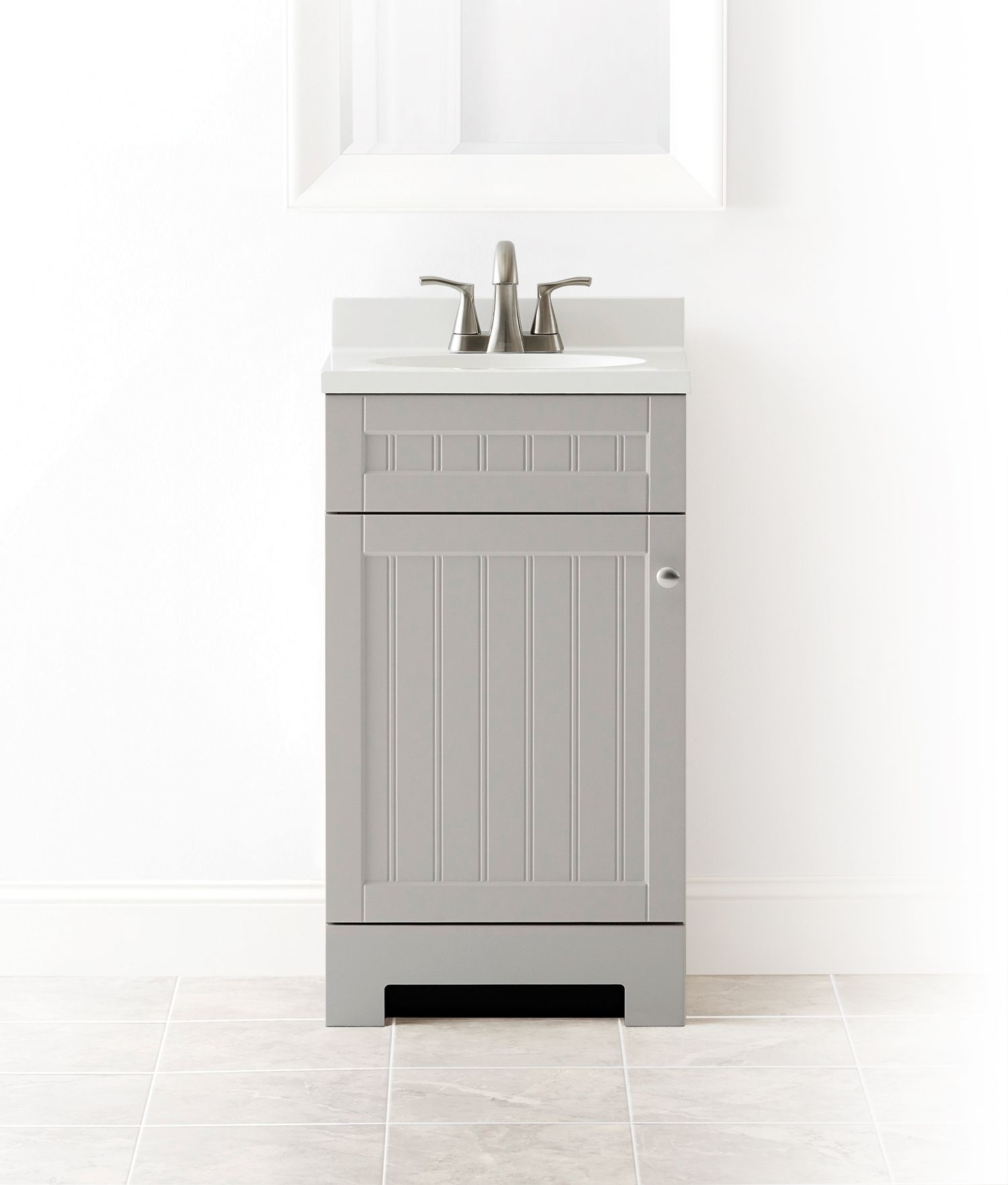 Admirable Style Selections Ellenbee 18 5 In Gray Single Sink Bathroom Interior Design Ideas Gentotryabchikinfo