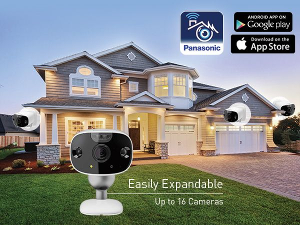 Panasonic HomeHawk Front Door + 2 Outdoor Home Monitoring