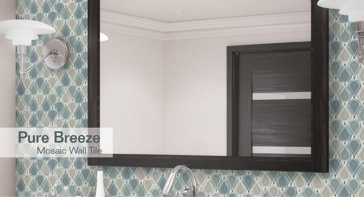 - Elida Ceramica Pure Breeze Teardrop 12-in X 12-in Glossy Glass
