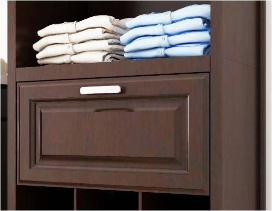Allen + roth 8-ft W x 6 83-ft H Java Wood Closet Kit at Lowes com