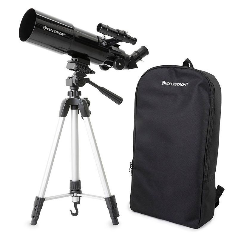 Celestron Travel Scope 80 Portable Telescope Bundle