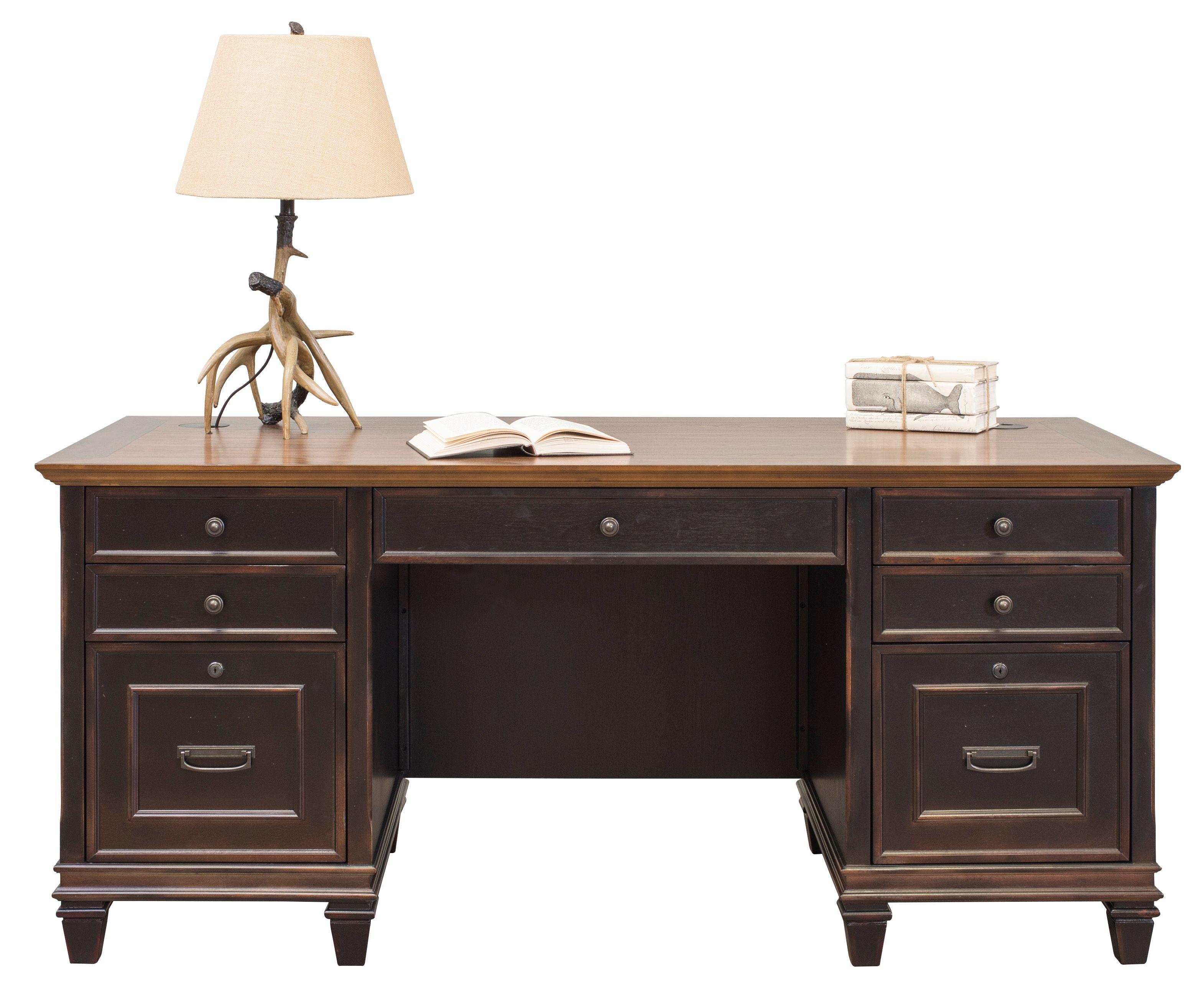 Harrington Desk, Credenza & File
