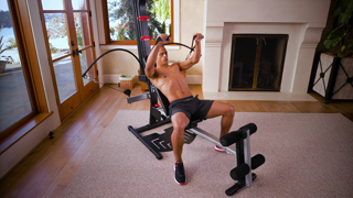Bowflex PR1000 Home Gym with 25+ Exercises and 200 lbs  Power Rod  Resistance - Free 2 Day Shipping!