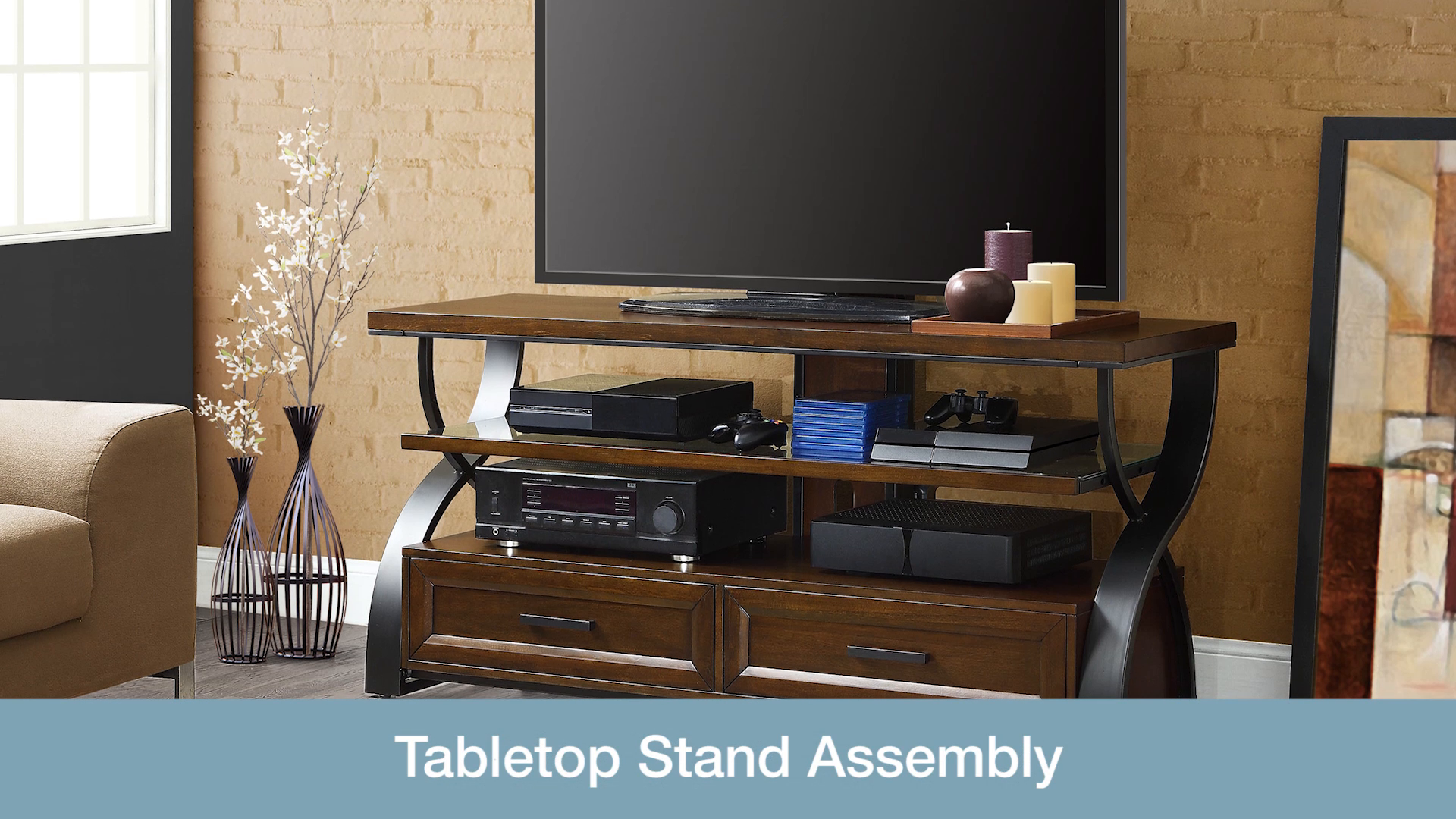 Bayside Furnishings Serra 56 3 In 1 Tv Stand Video Guides