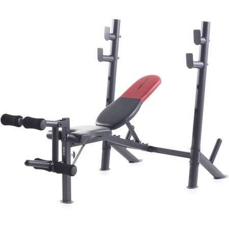 4e92268f7d4 Weider Pro 265 Standard Bench with 80 Lb. Vinyl Weight Set - Walmart.com