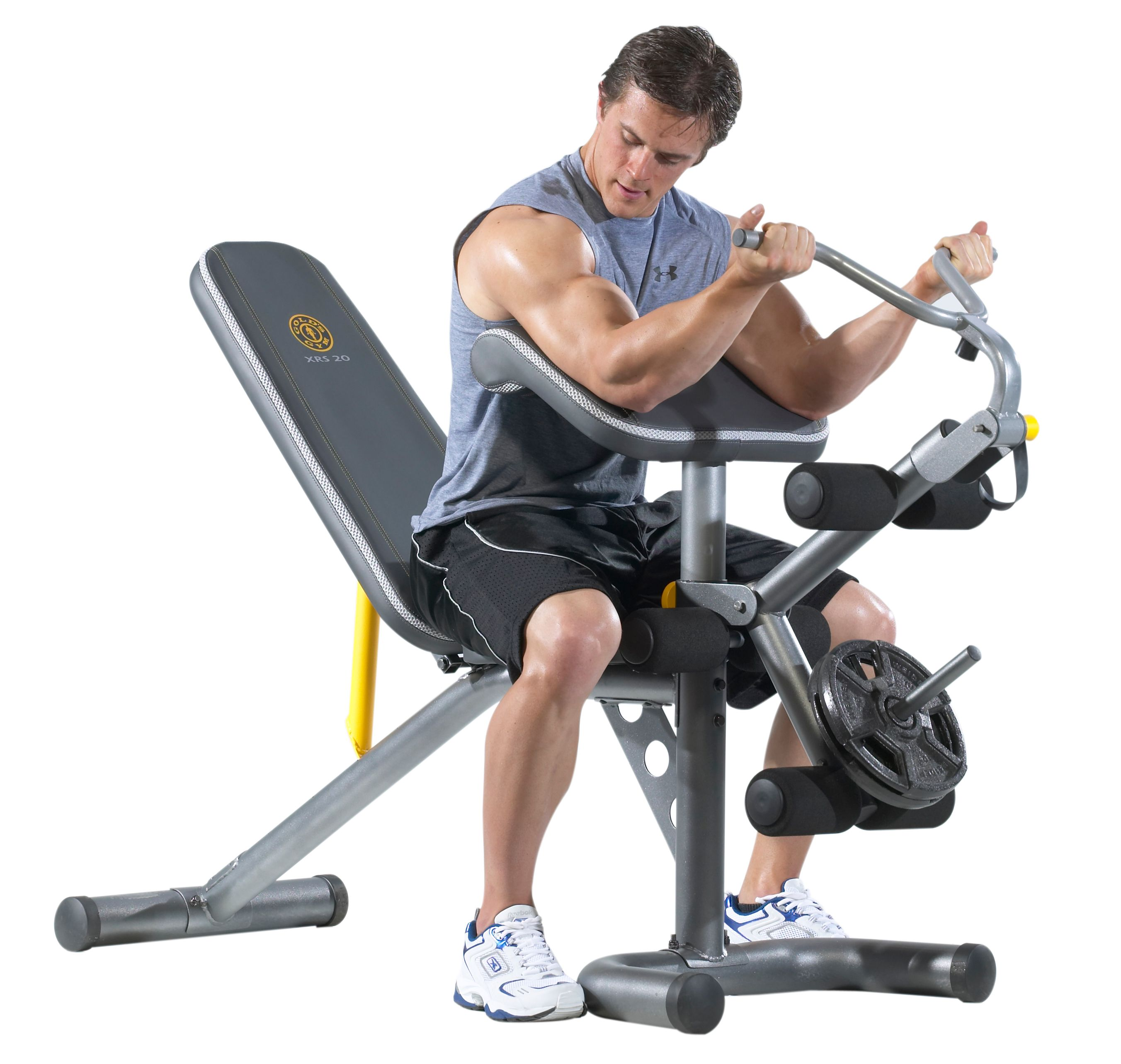 Gold's Gym XRS 20 Olympic Workout Bench with Squat Rack - Walmart com