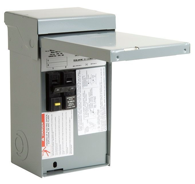 Square D 50-Amp 2-Pole Non-Fusible Enclosed Circuit Breaker Disconnect in  the Electrical Disconnects department at Lowes.comLowe's
