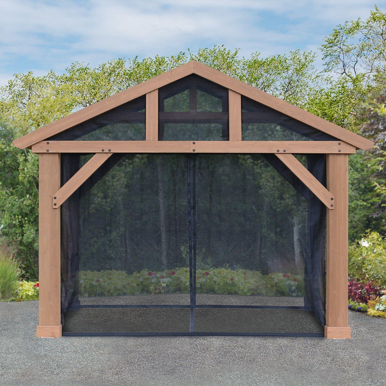 Pavilion Mosquito Mesh Kit 14 X12 Wood Pavilion Heavy
