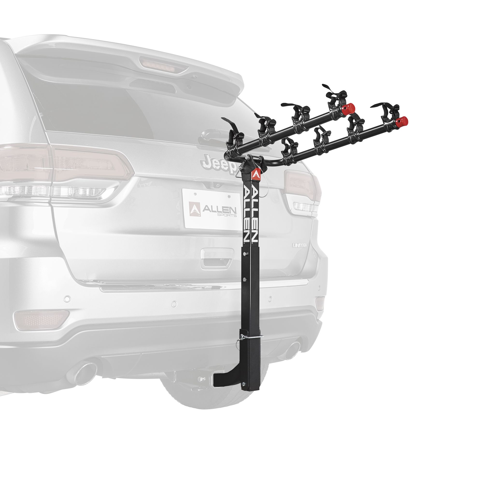 Allen Sports Deluxe 2 Bike Storage Mount Carrier Rack for Rear Car Trunk Used
