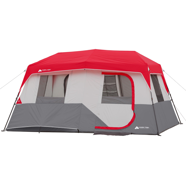 Ozark Trail 11 Person Instant Cabin With Private Room Walmart