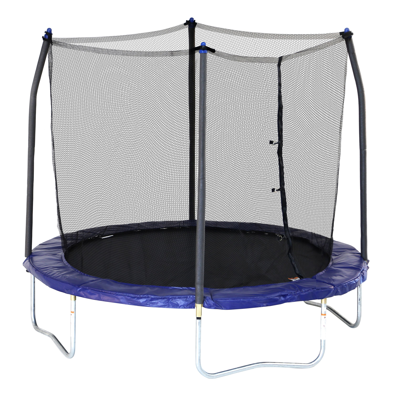 skywalker trampolines 12 u0027 round trampoline with enclosure green