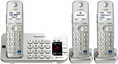 Link2Cell Bluetooth® Corldess Phone with Large Keypad- 3 Handsets -  Newegg com