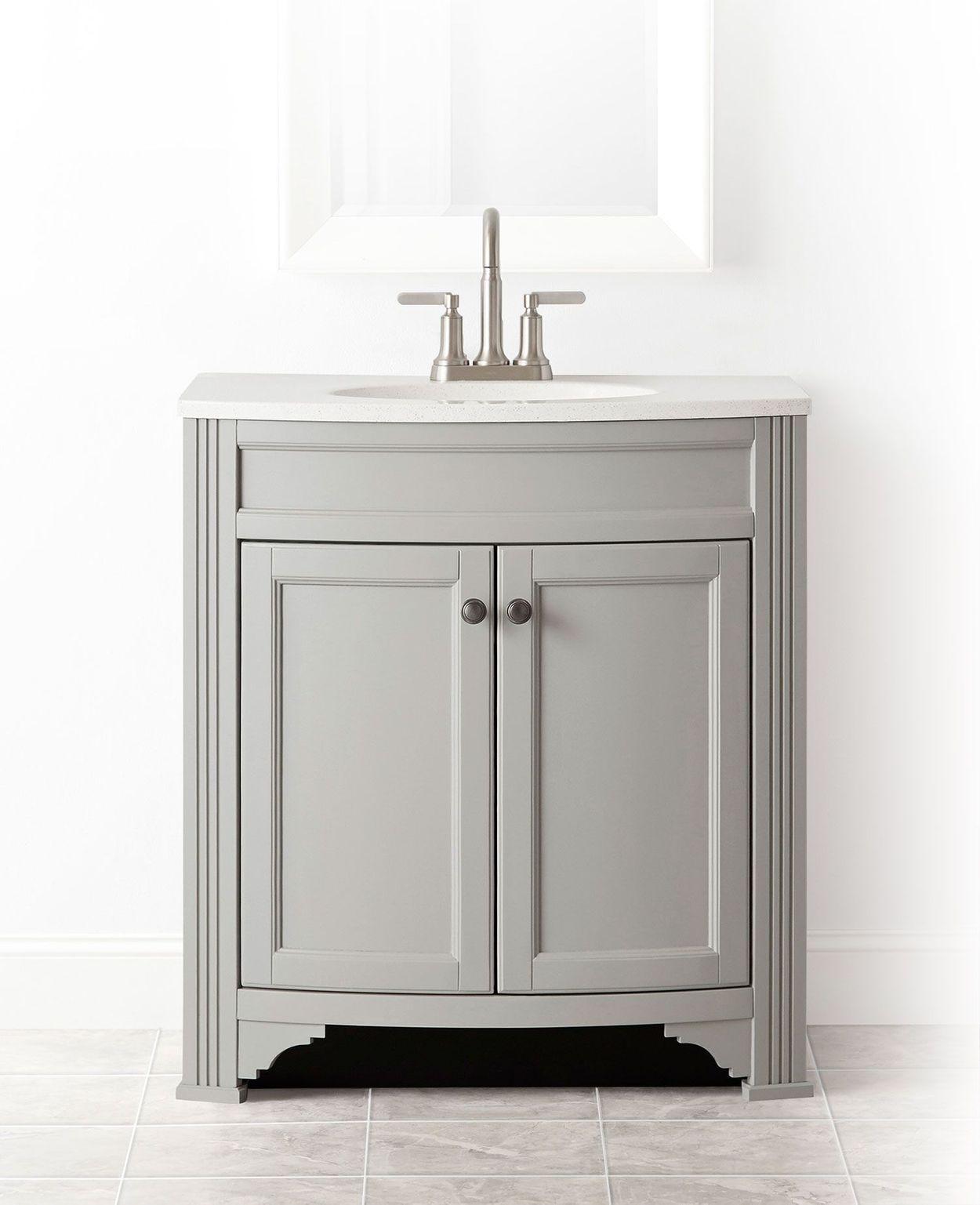 Gray Single Sink Bathroom Vanity