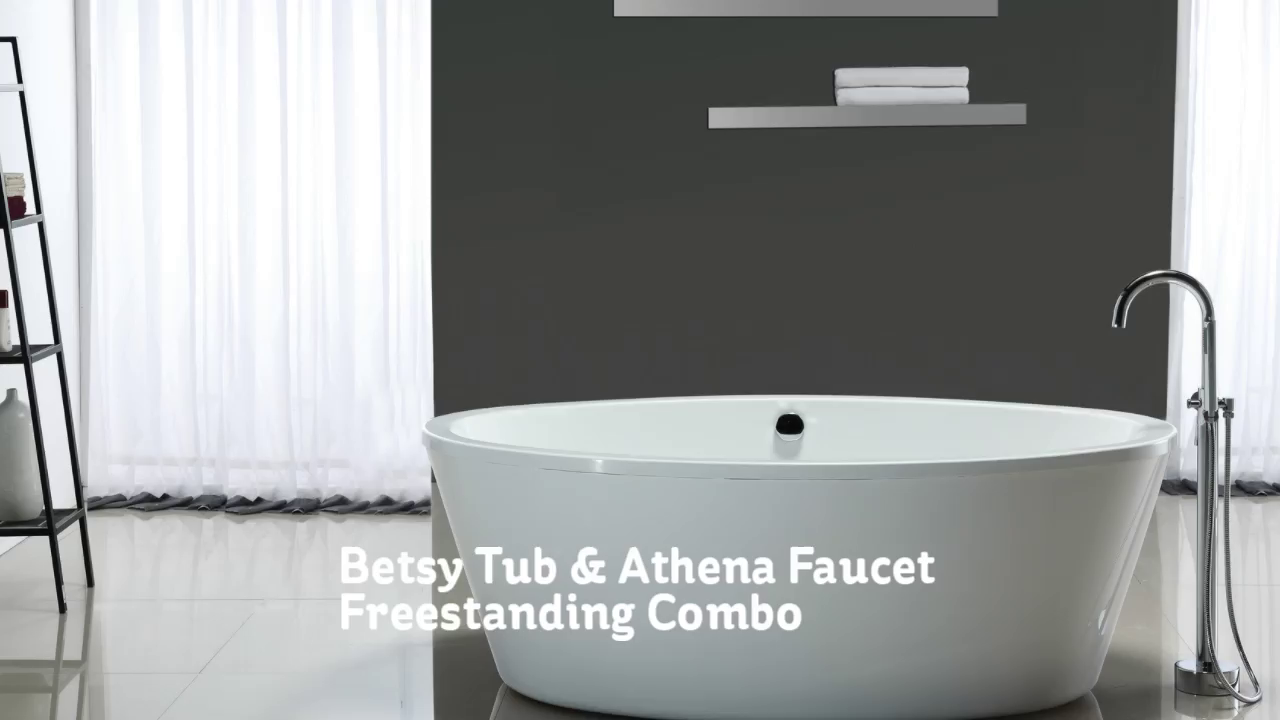 OVE Betsy 67 in. Bathtub with Athena Freestanding Faucet