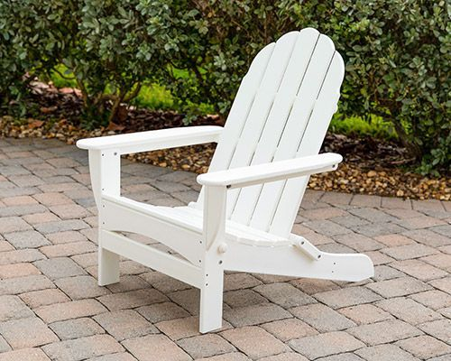 Awe Inspiring Details About Long Beach Folding Adirondack Chair By Polywood White Bralicious Painted Fabric Chair Ideas Braliciousco