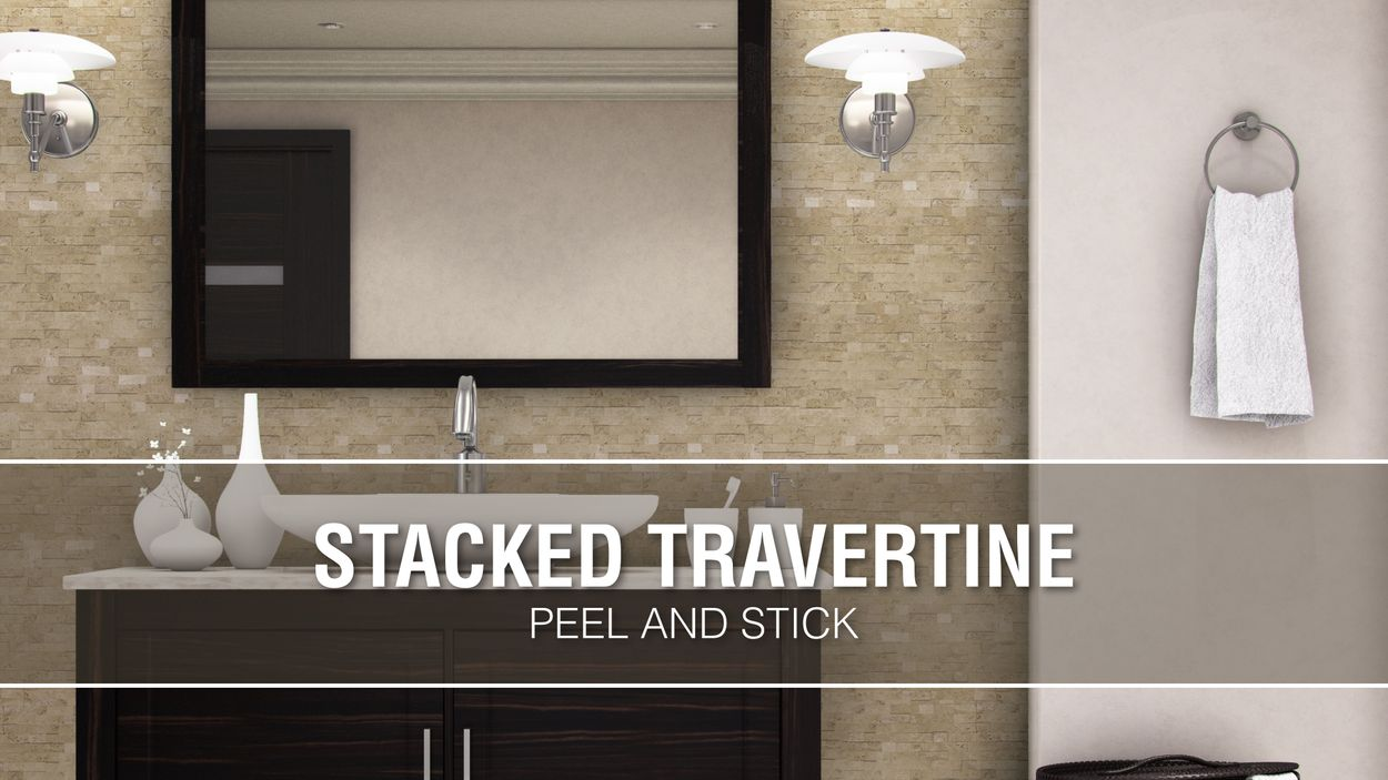 L And Stick Stacked Travertine