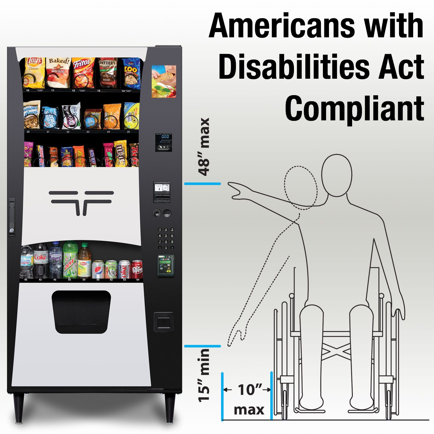 Selectivend Commander ADA Plus Snack Combo Vending Machine