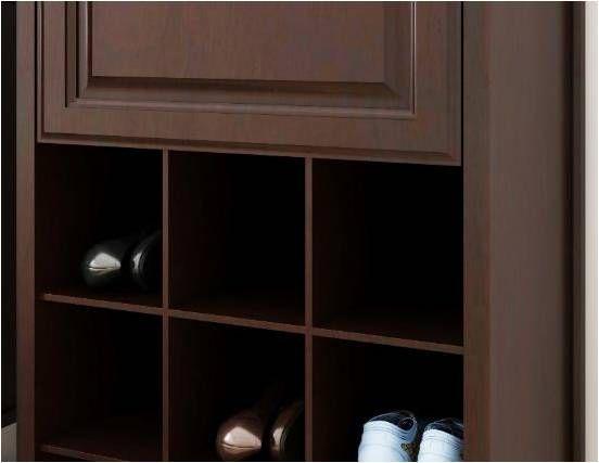 Allen + roth 8-ft W x 6 83-ft H Java Wood Closet Kit at Lowes com