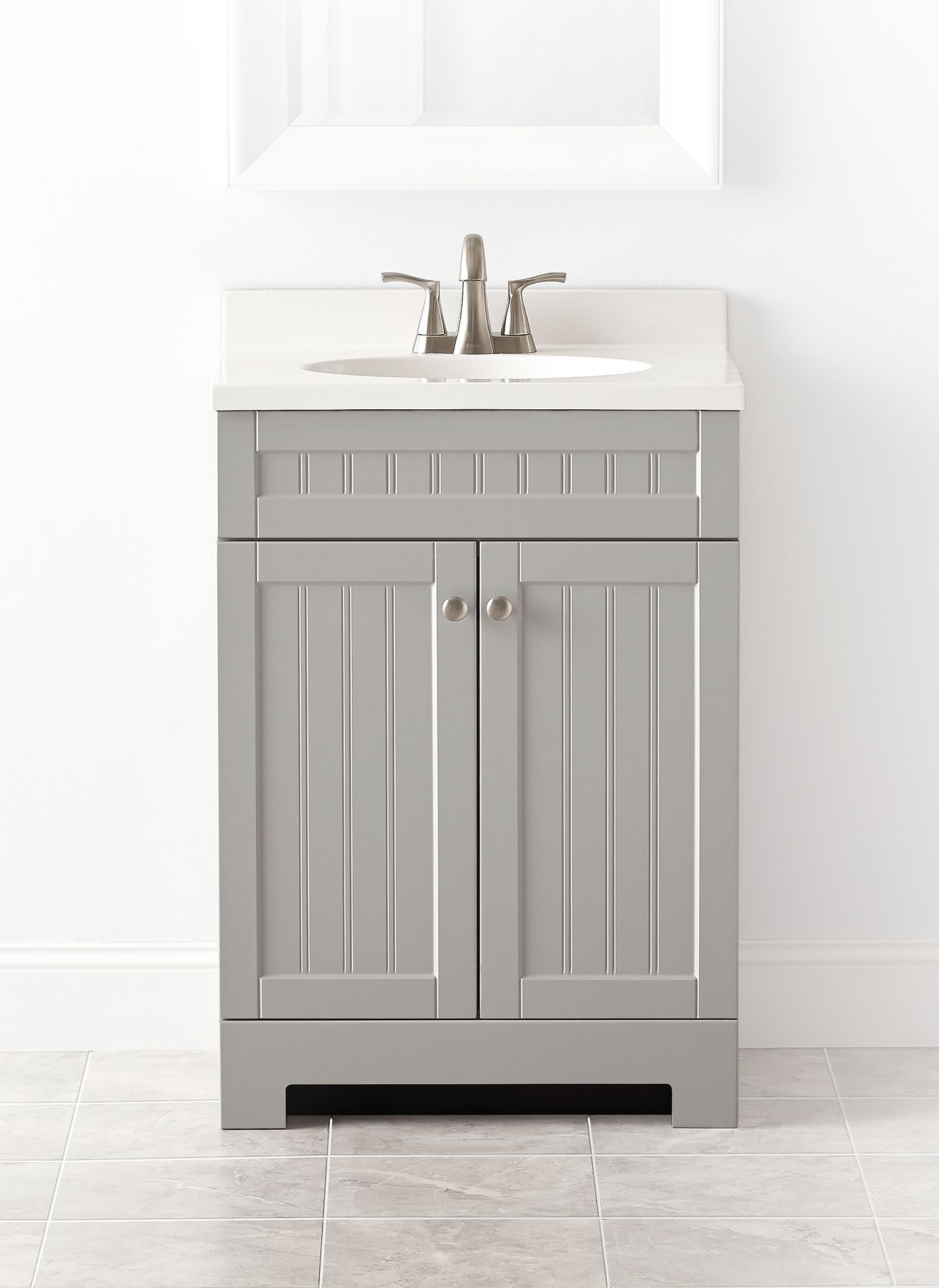Pleasing Style Selections Ellenbee 24 5 In Gray Single Sink Bathroom Download Free Architecture Designs Scobabritishbridgeorg