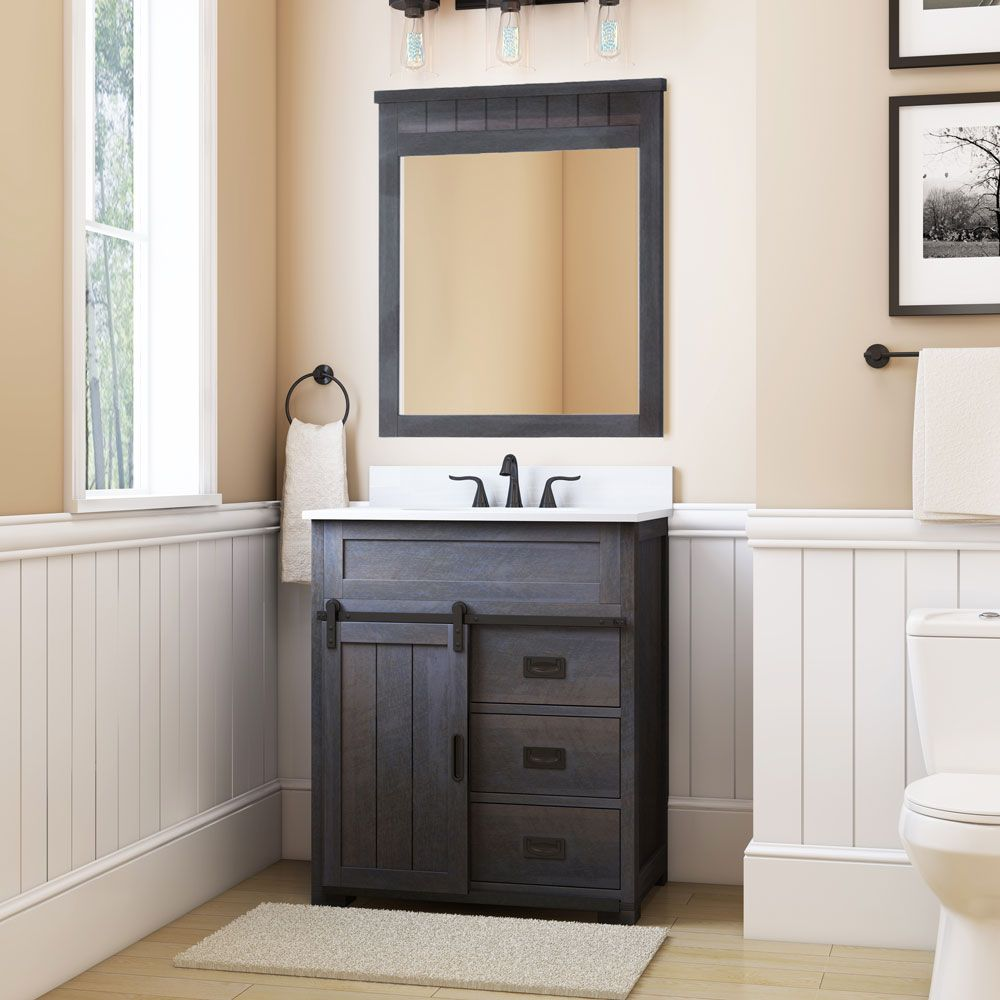 Superb Style Selections Morriston 30 In Distressed Java Single Sink Download Free Architecture Designs Ogrambritishbridgeorg