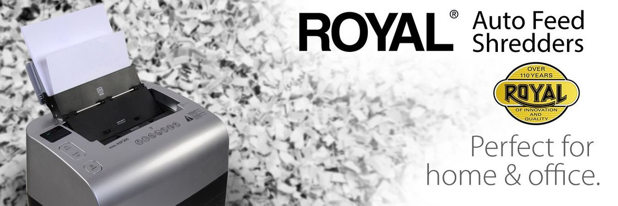 Royal Auto Feed Shredders. Royal. Over 110 years of innovation and quality. Perfect for home & office.