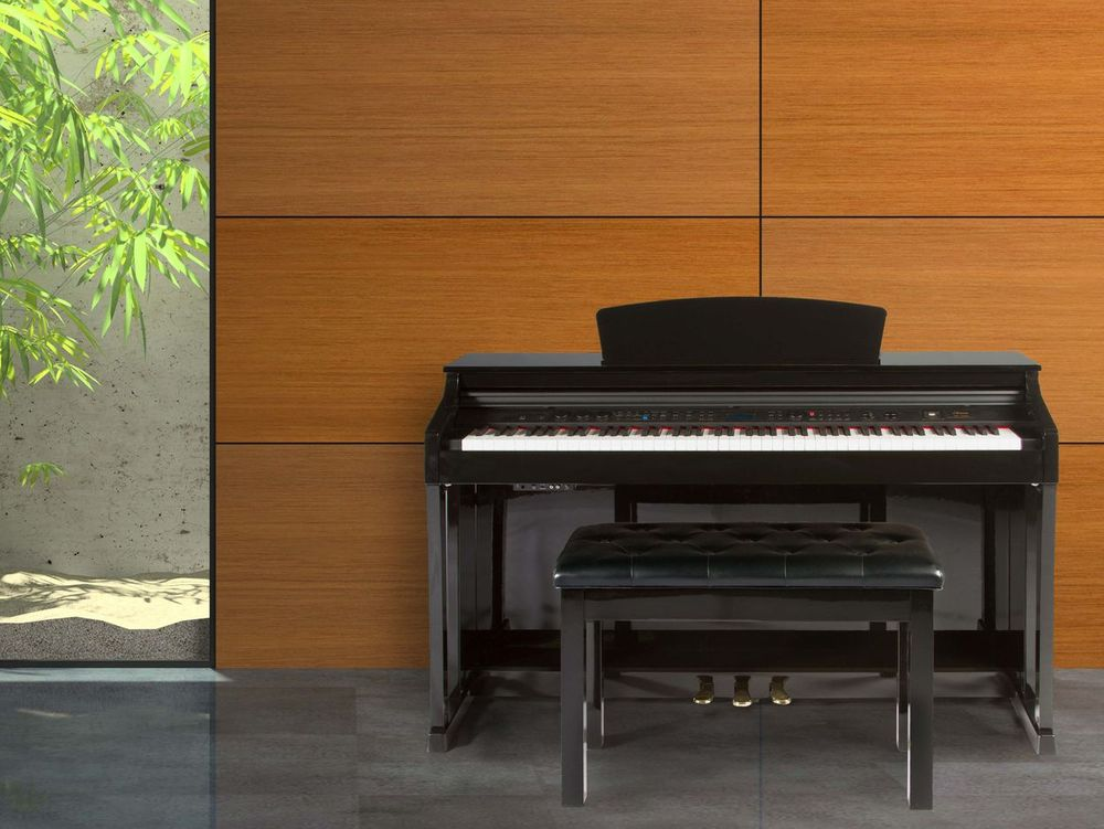 b0e5e39ee95 The Artesia DP-150e Deluxe Digital Upright Piano offers a complete package  of style and elegance with the latest in music technology.