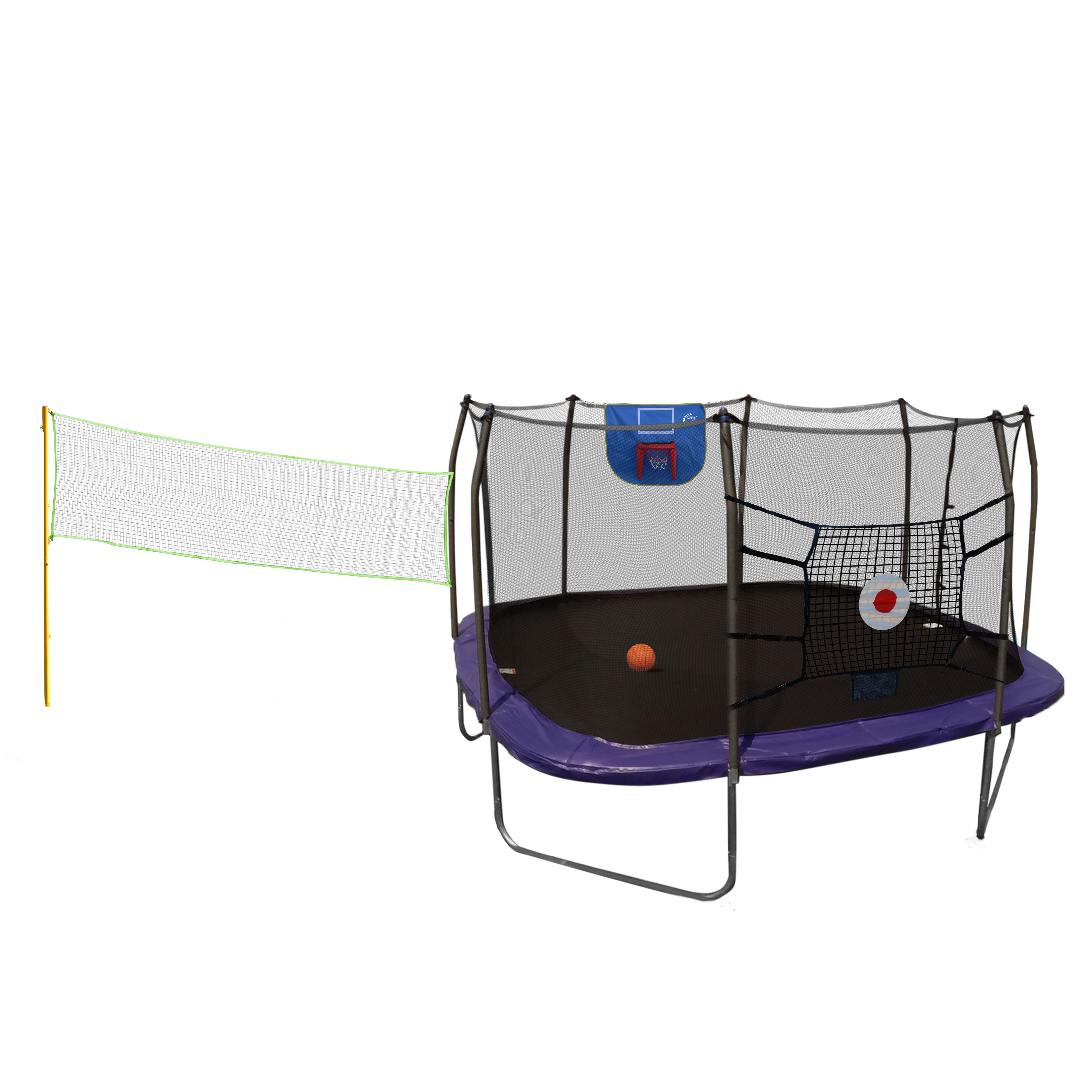 Skywalker Trampolines Square Sports Arena 15-Foot Trampoline, with ...