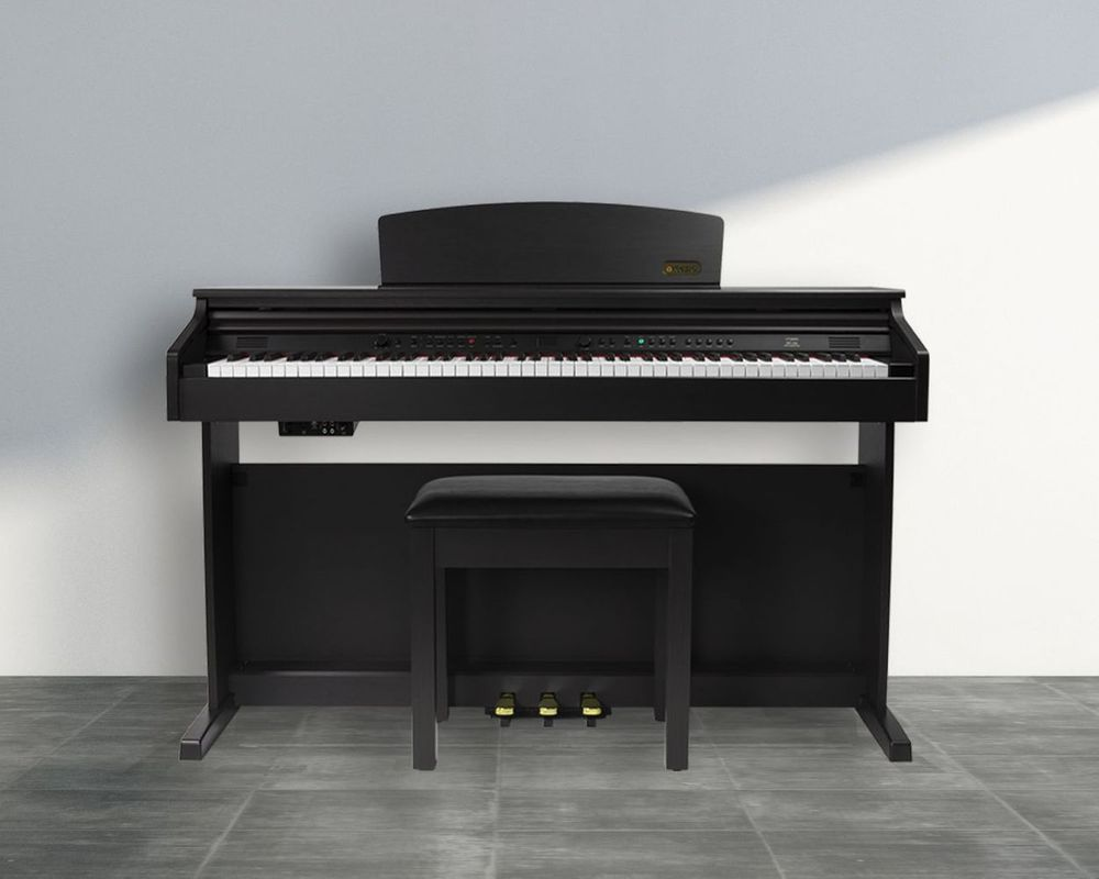 d2a23515d54 Artesia DP-10e Deluxe Digital Upright Piano Bundle The Artesia DP-10e  Digital Piano will fill your home with Its deeply expressive concert hall  sound and ...