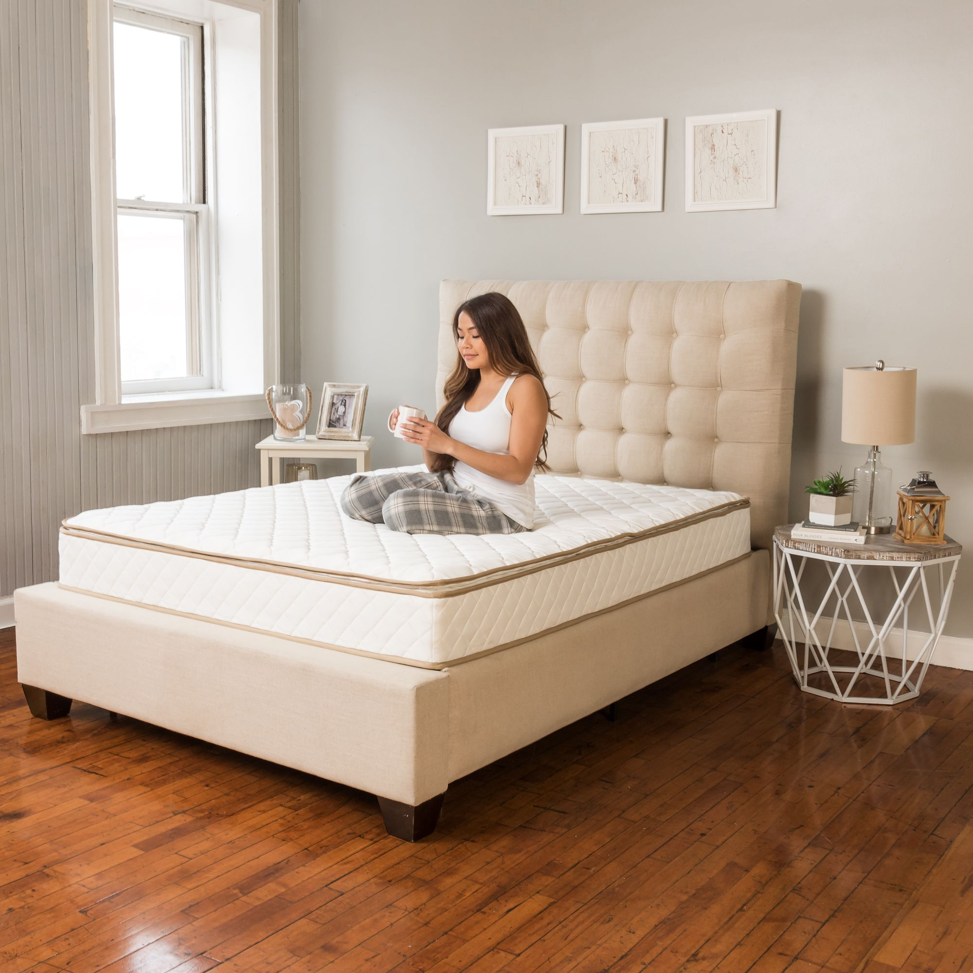 modern sleep cool gel ventilated gel memory foam 10 5 inch mattress