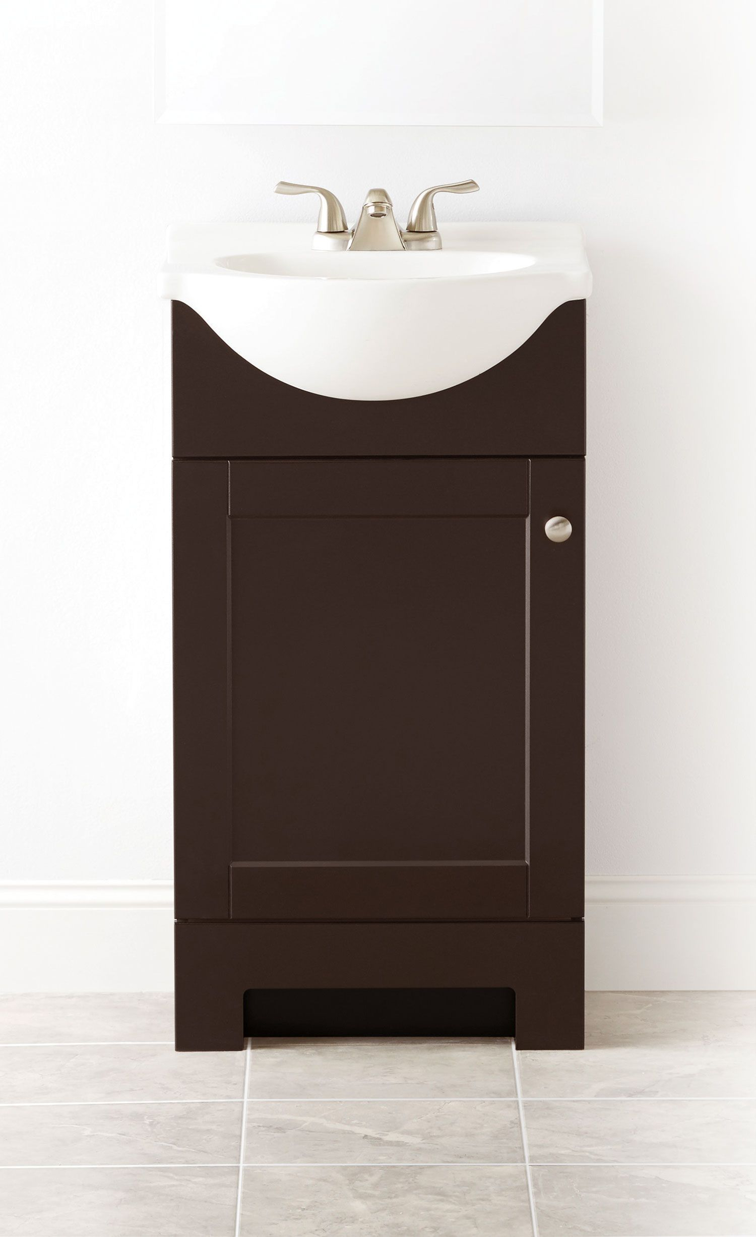 Pleasing Style Selections Euro 19 In Espresso Single Sink Bathroom Beutiful Home Inspiration Xortanetmahrainfo