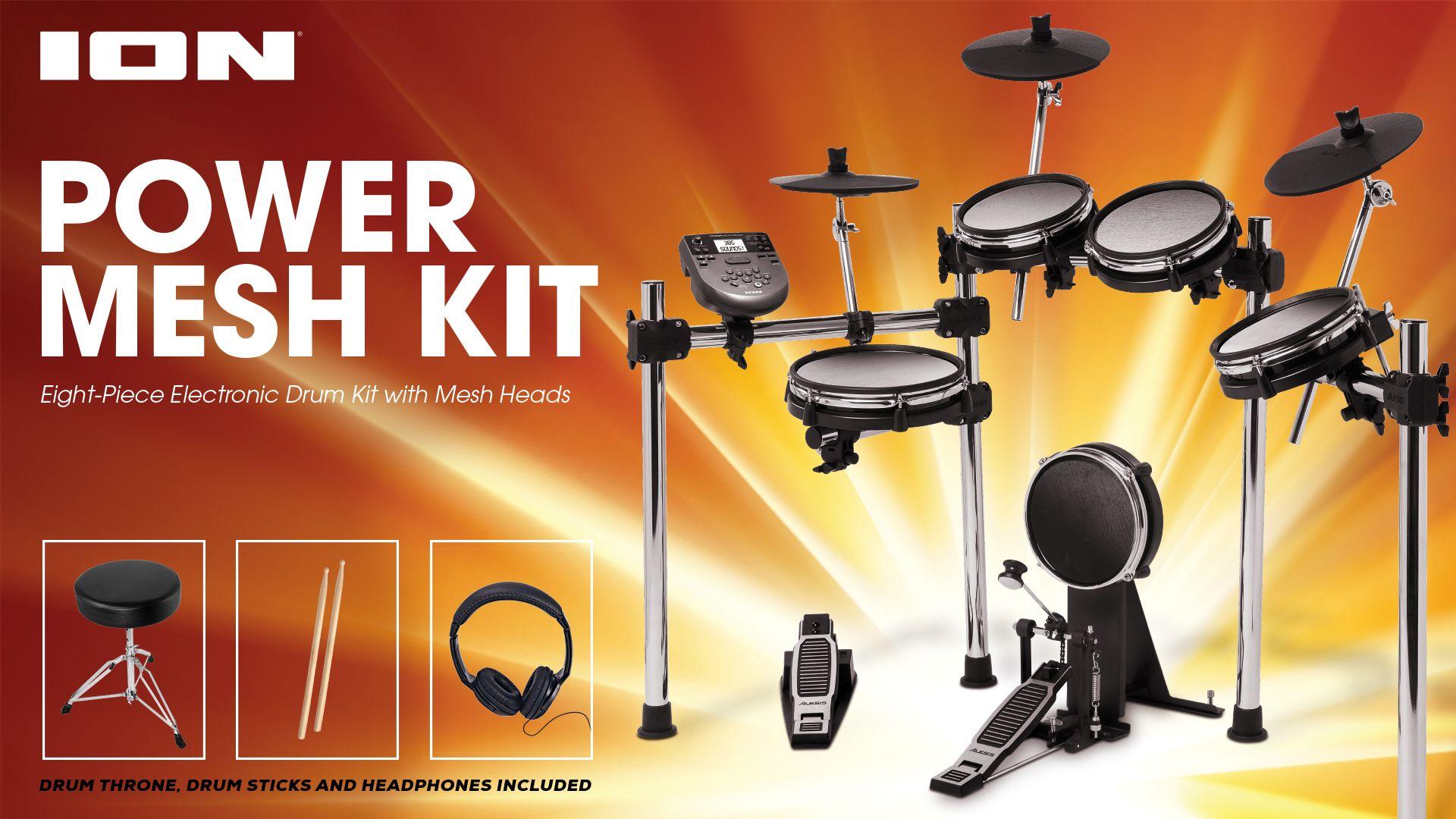 Ion Power Mesh Kit 8-piece Electronic Drum Kit - LDK22