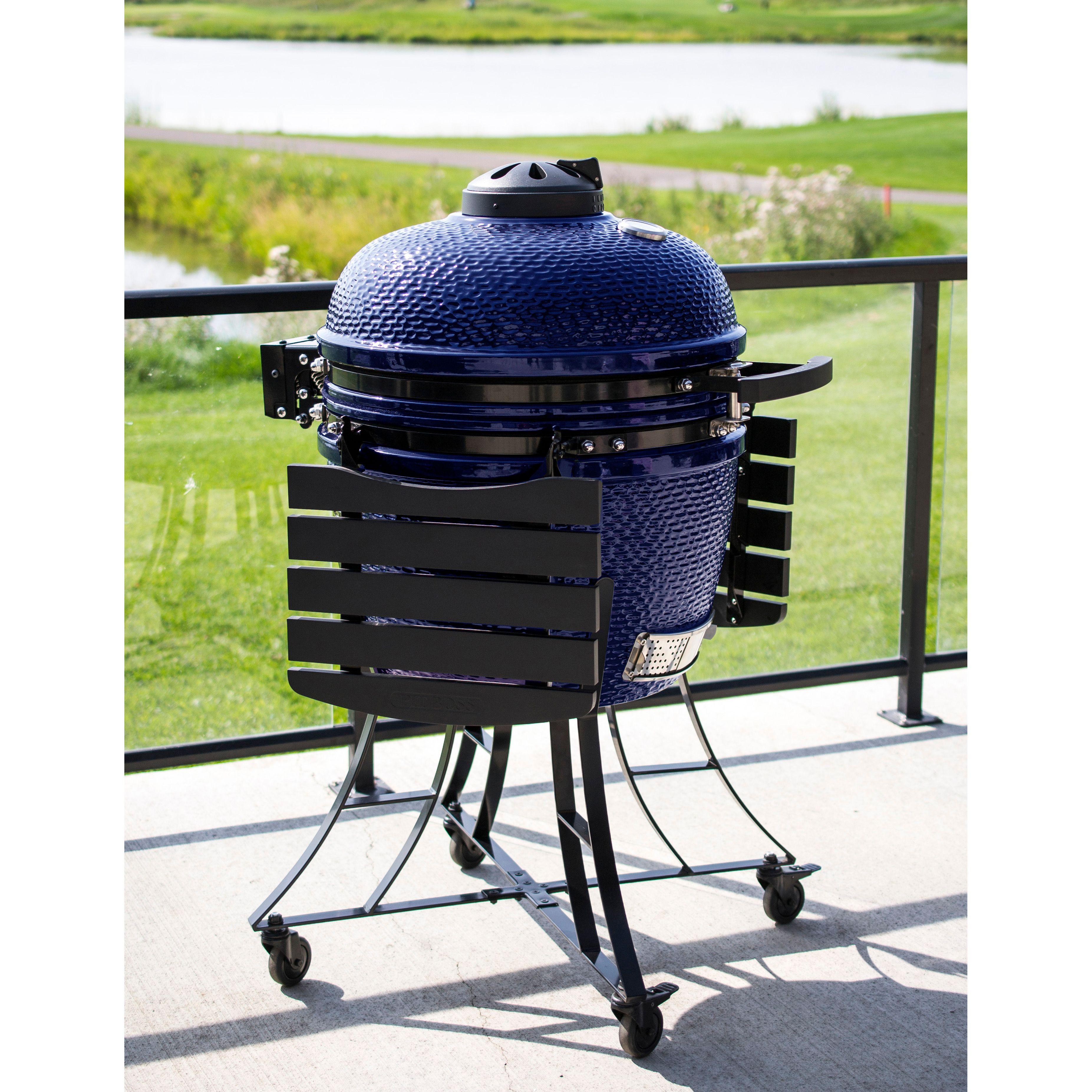 Louisiana Grills K24 Ceramic Kamado Charcoal Grill in Black