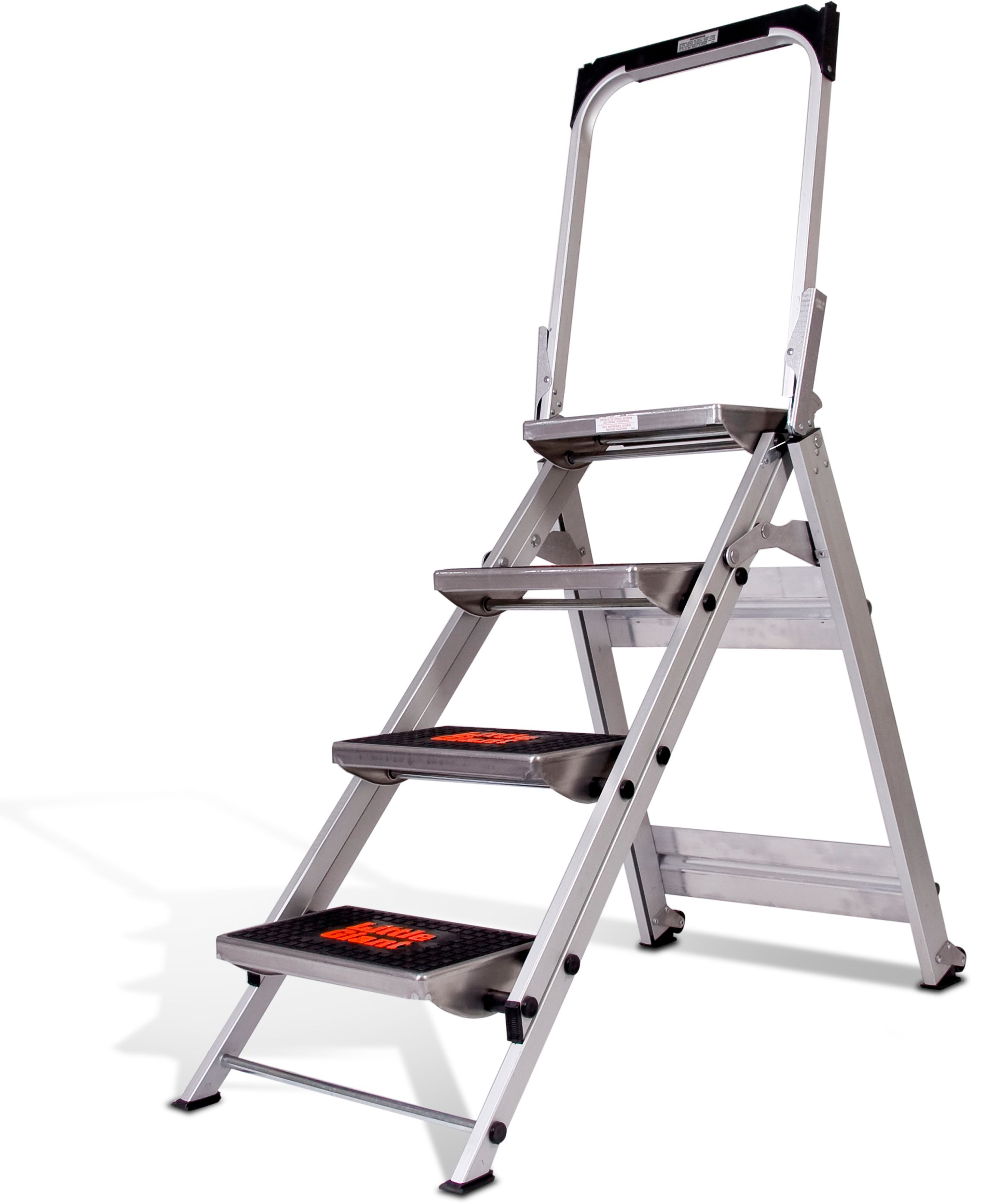Fabulous Little Giant Ladders 4 Step 300 Lbs Capacity Silver Unemploymentrelief Wooden Chair Designs For Living Room Unemploymentrelieforg