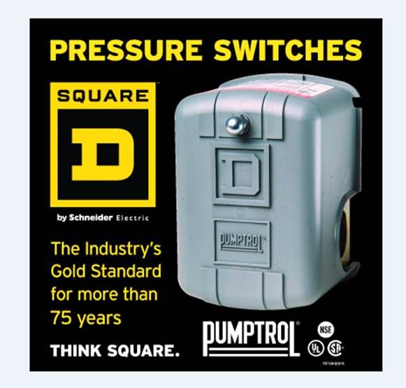 Square D 30/50-PSI Plastic Exterior Pressure Switch at Lowes.com on