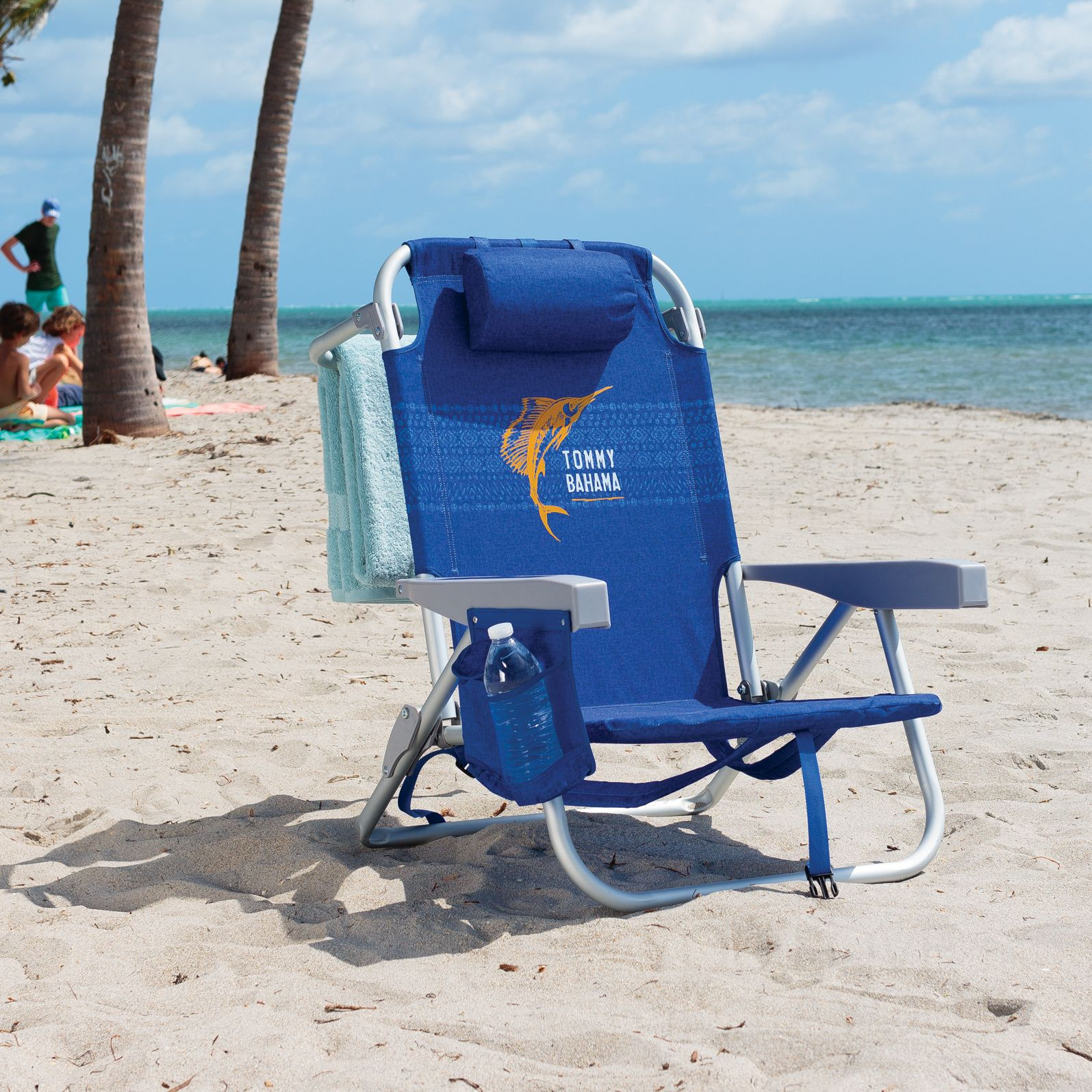 bb33fc55c5 With an insulated pouch, cell phone holder, towel bar, adjustable pillow  and more, you're guaranteed to always have the best seat in paradise!